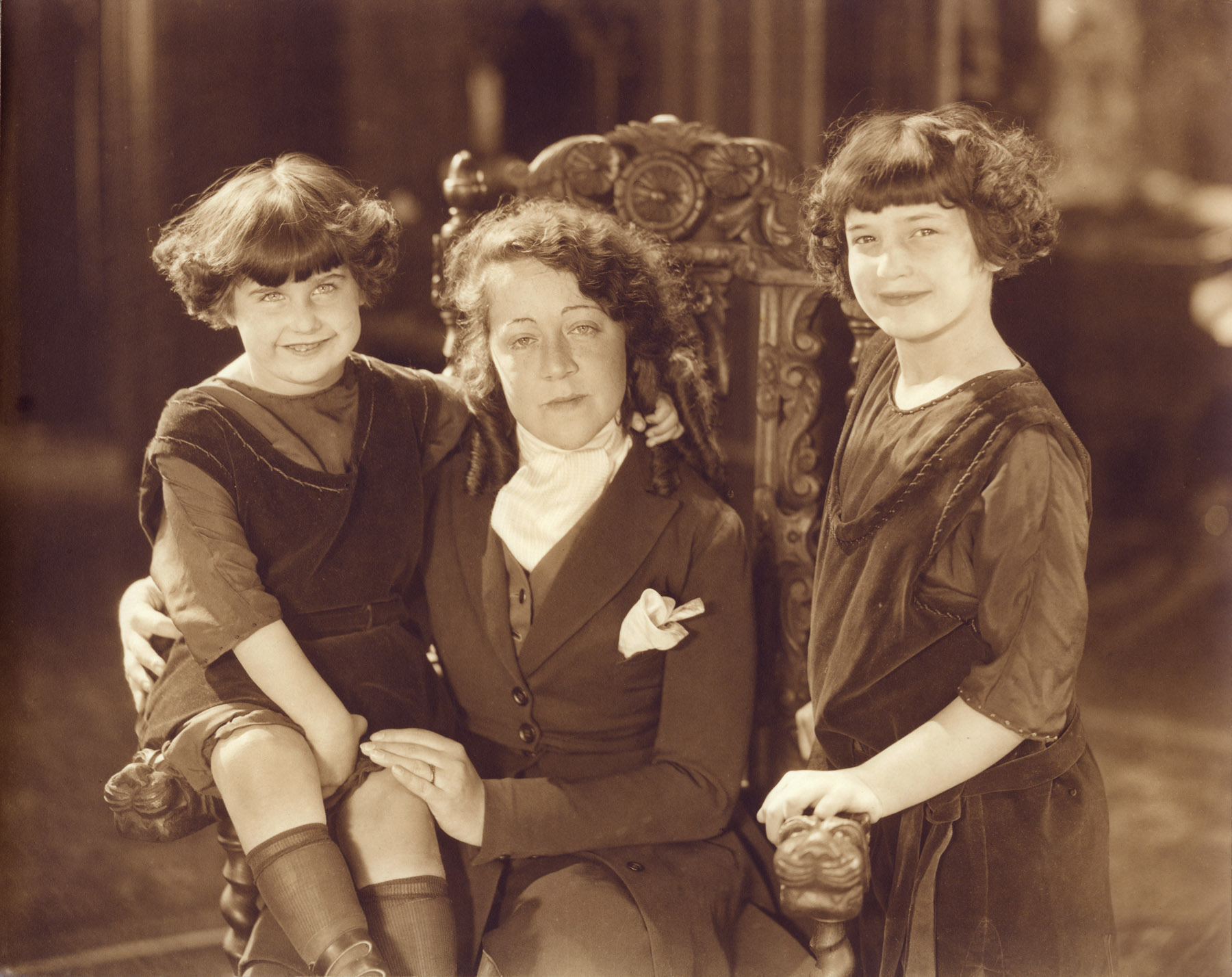 Ruth, Malvina Fox Dunn, Bernice.  Hollywood, 1921