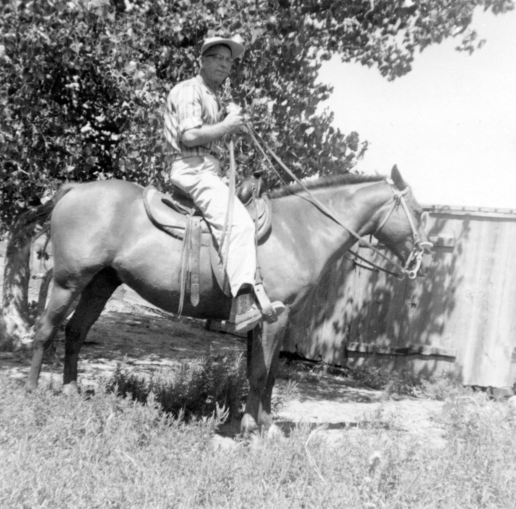 Archie Eastham on Chico, 8/23/1950
