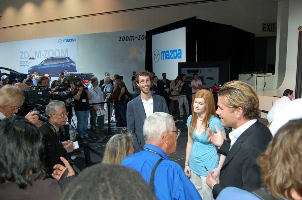 Speaking with the press following the Mazda press conference
