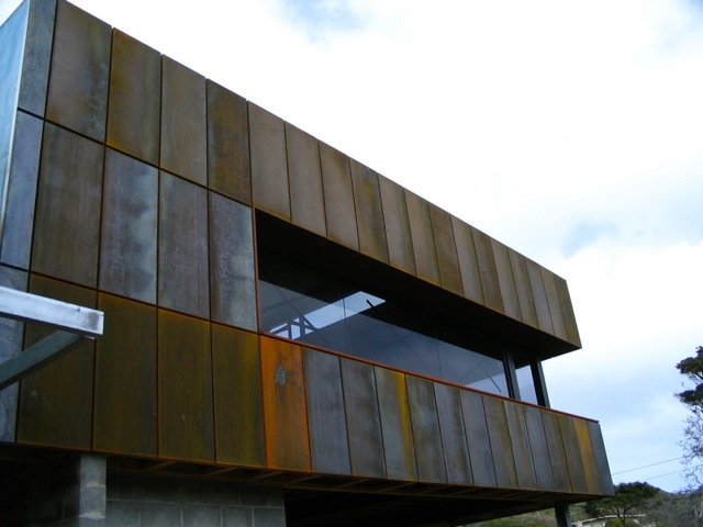 corten steel - rusted wall cladding / panels — Architectural