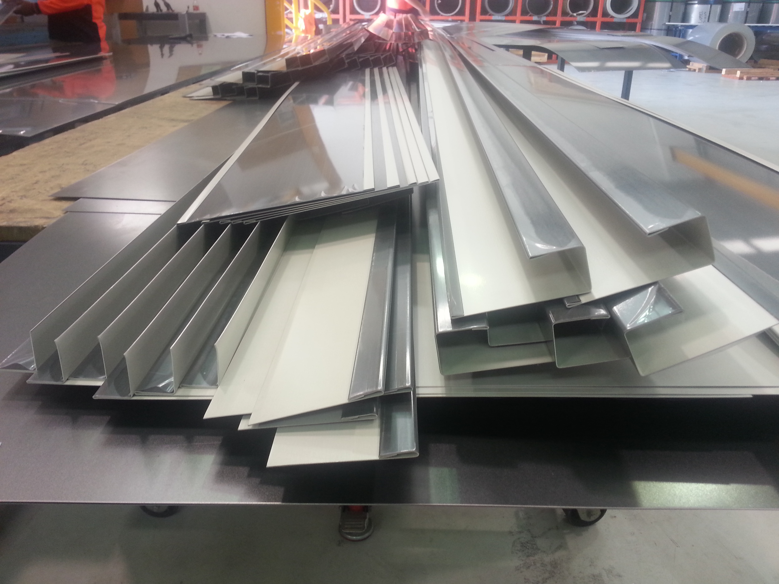Flashings for the North Elevation before delivery to Sydney