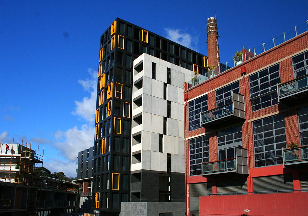 The Boiler House - Beams and Columns clad in PVDF Aluminium Satin Black