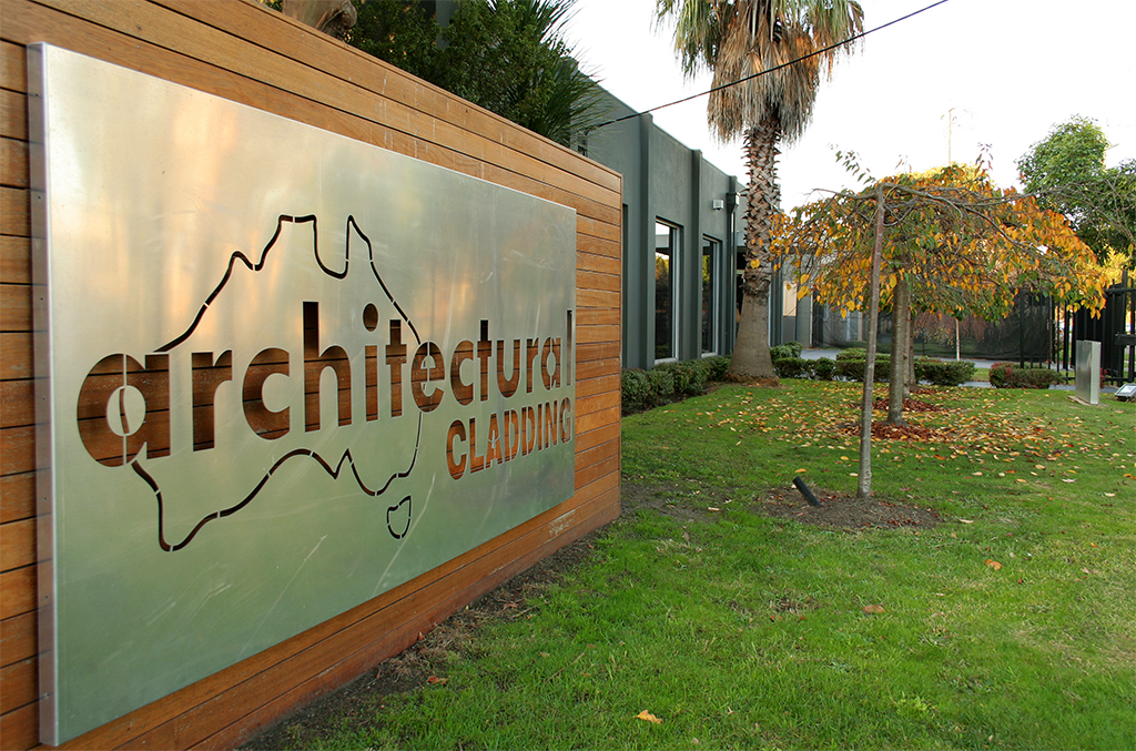 Architectural Cladding - Logo and Office Gardens
