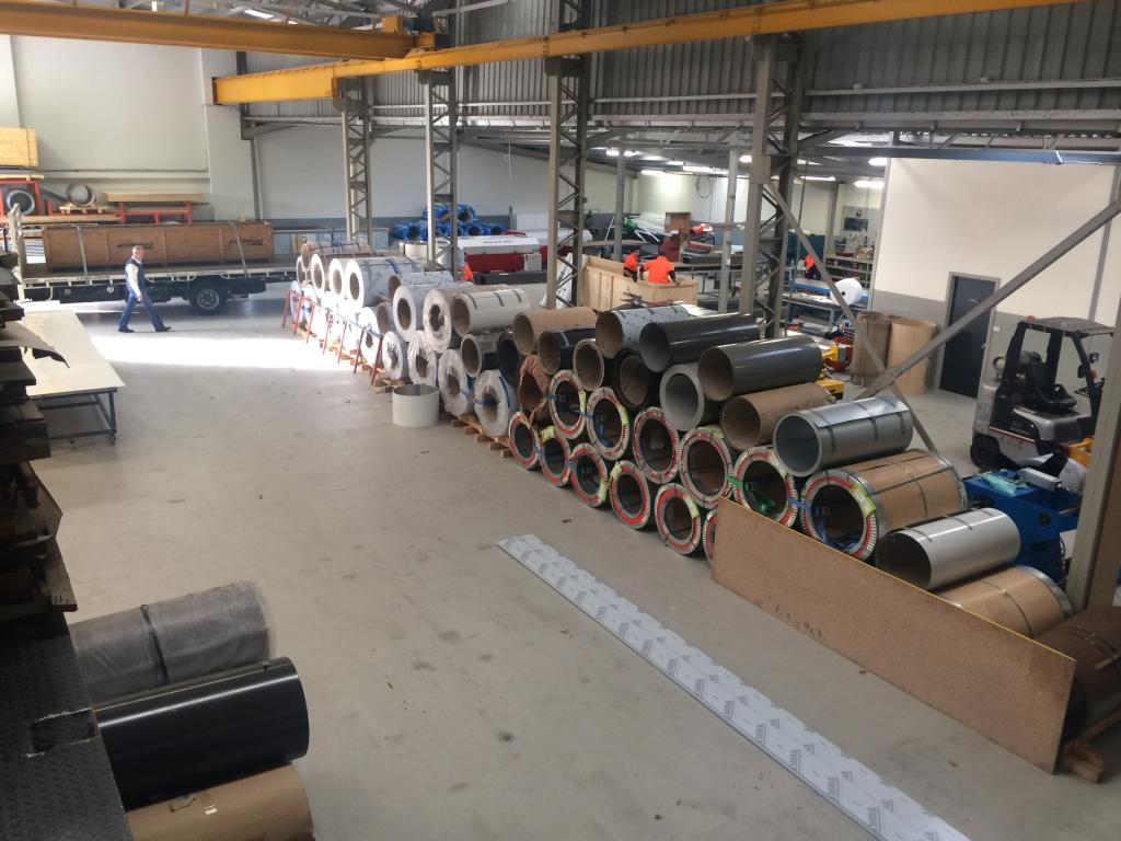 Architectural Cladding - Coils in the Factory
