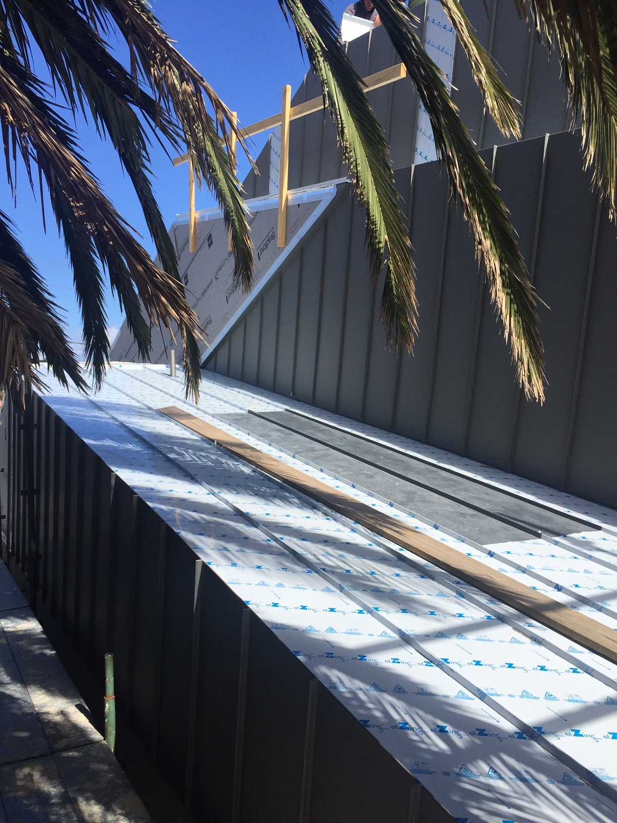 Zinc Standing Seam Wall and Roof Cladding