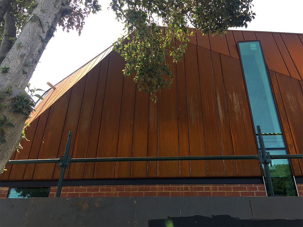 Rusted Steel Wall Cladding