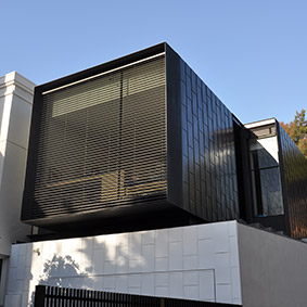 LANSELL rd extension, toorak vic pvdf charcoal black aluminium