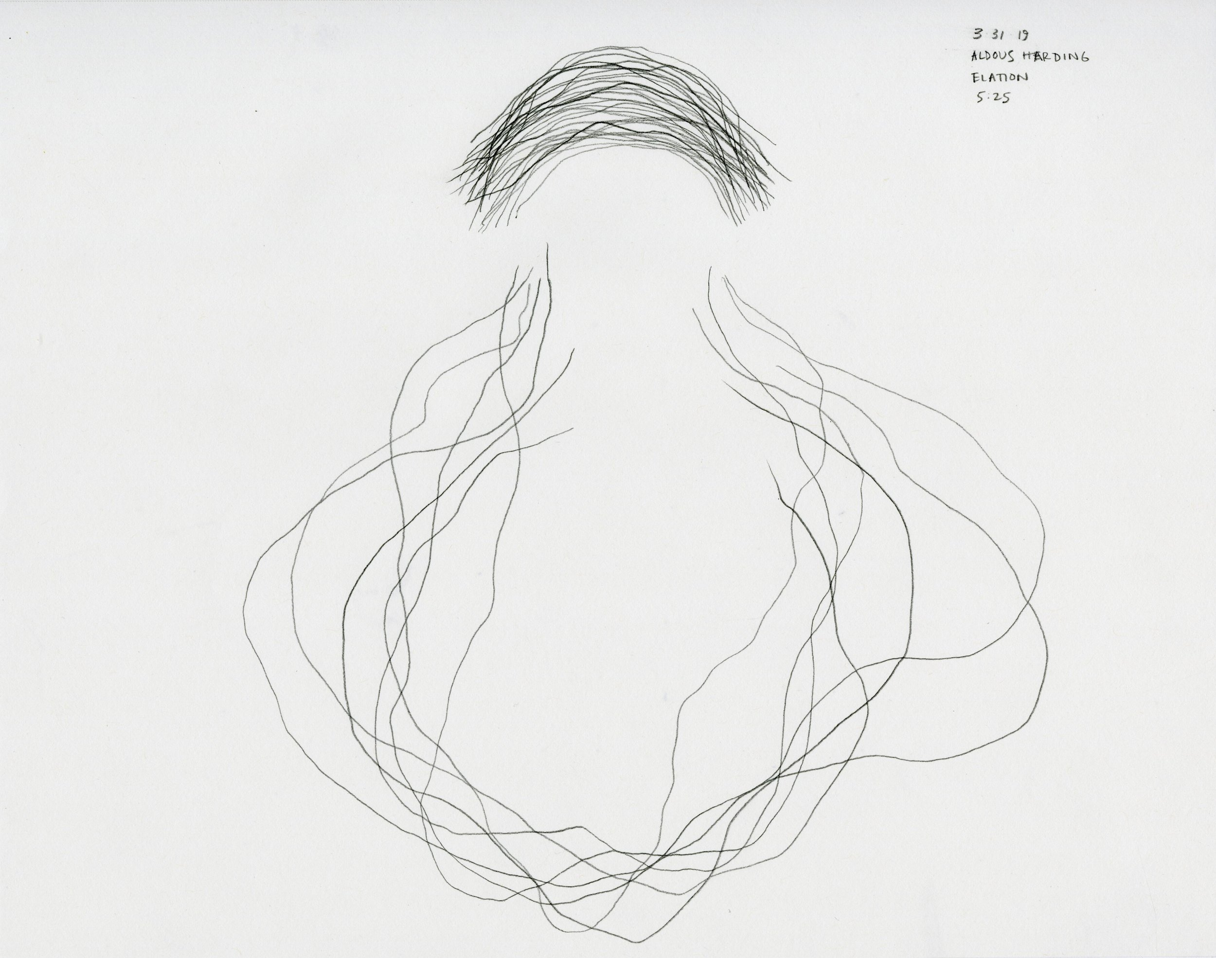 Music from Christopher, 2019   in collaboration with Christopher Jones  Cochlear Implant, youtube playlist, graphite, paper