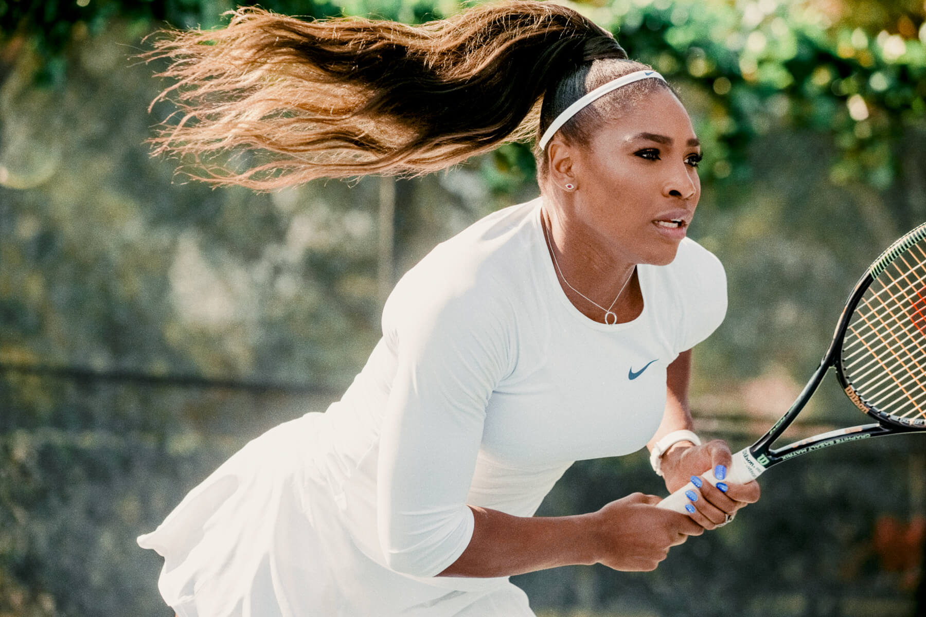 """Serena Williams for Chase's """"Masters are Here"""" commercials, 2015, photographed in Miami"""