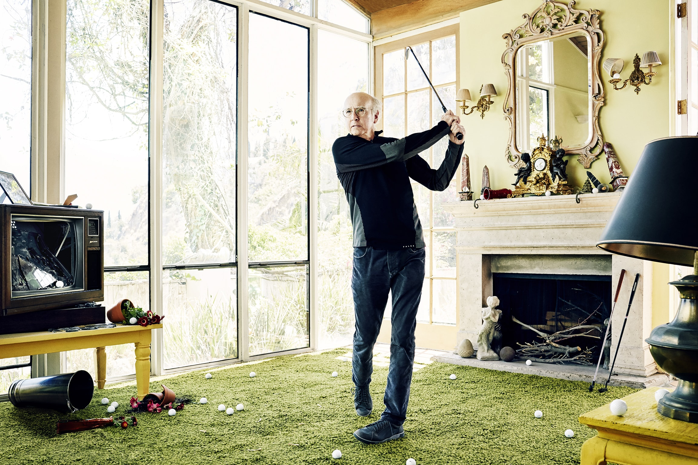 Larry David for the October 2015 issue of  Golf Digest