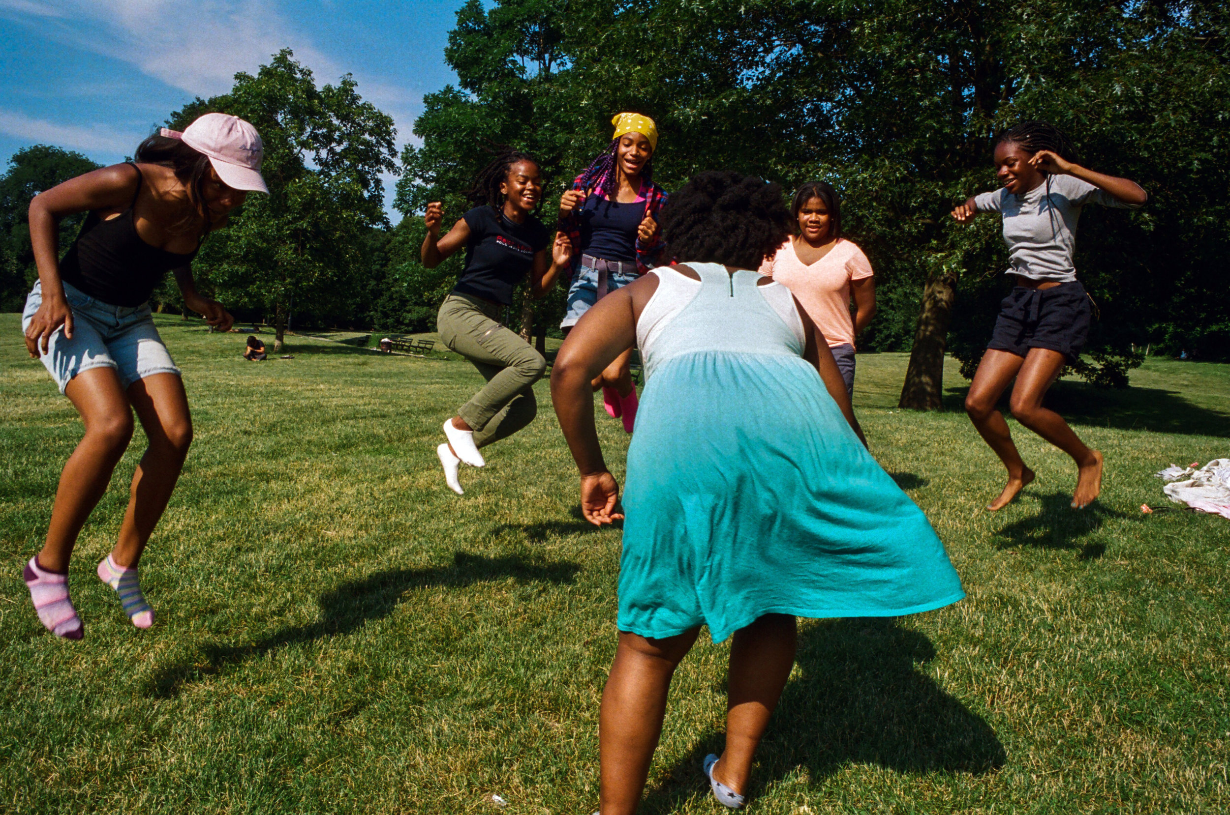 A group of girls in Prospect Park for  The New York Times , 2017