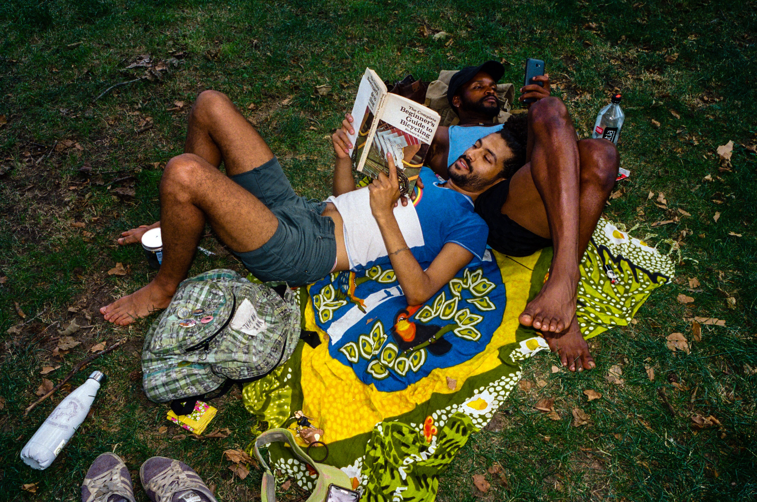 Two loungers in McCarren Park for  The New York Times , 2017