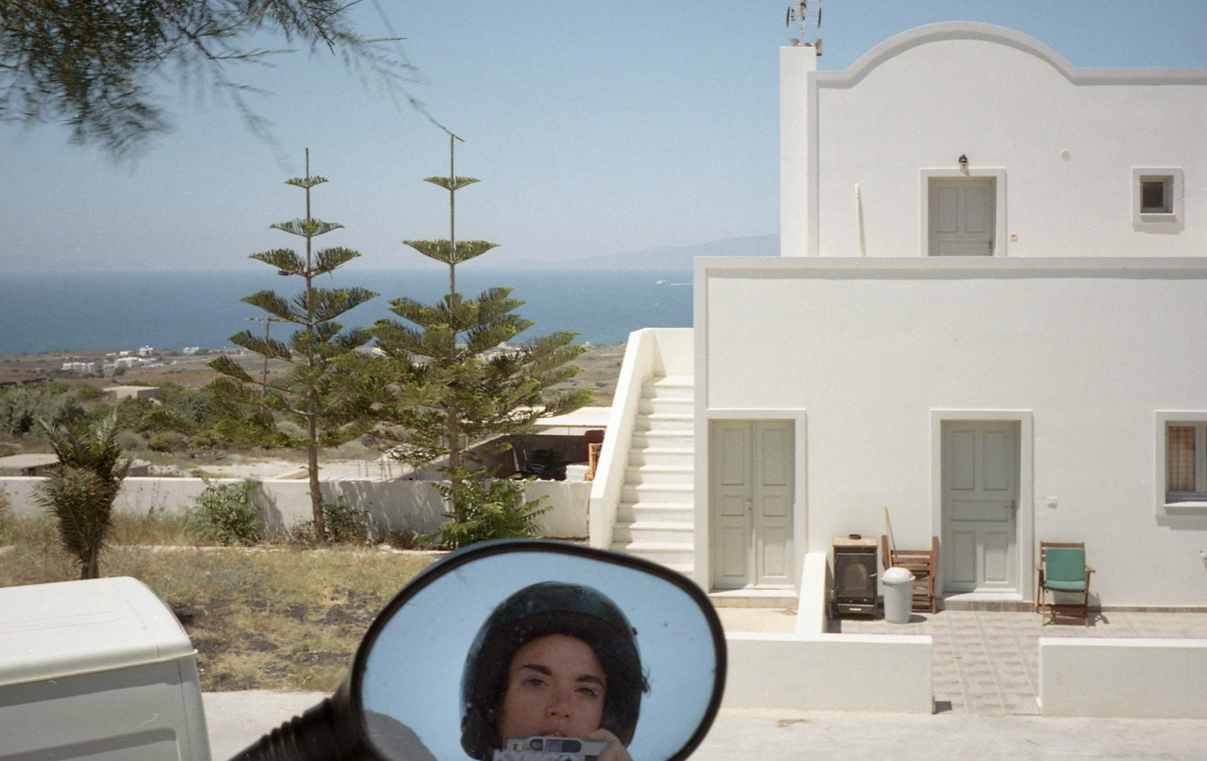 Self portrait in Red Beach, Santorini, Greece