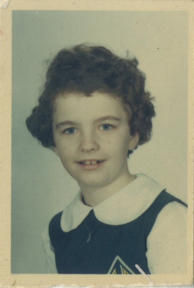 Kathy Ryan in 3rd grade.