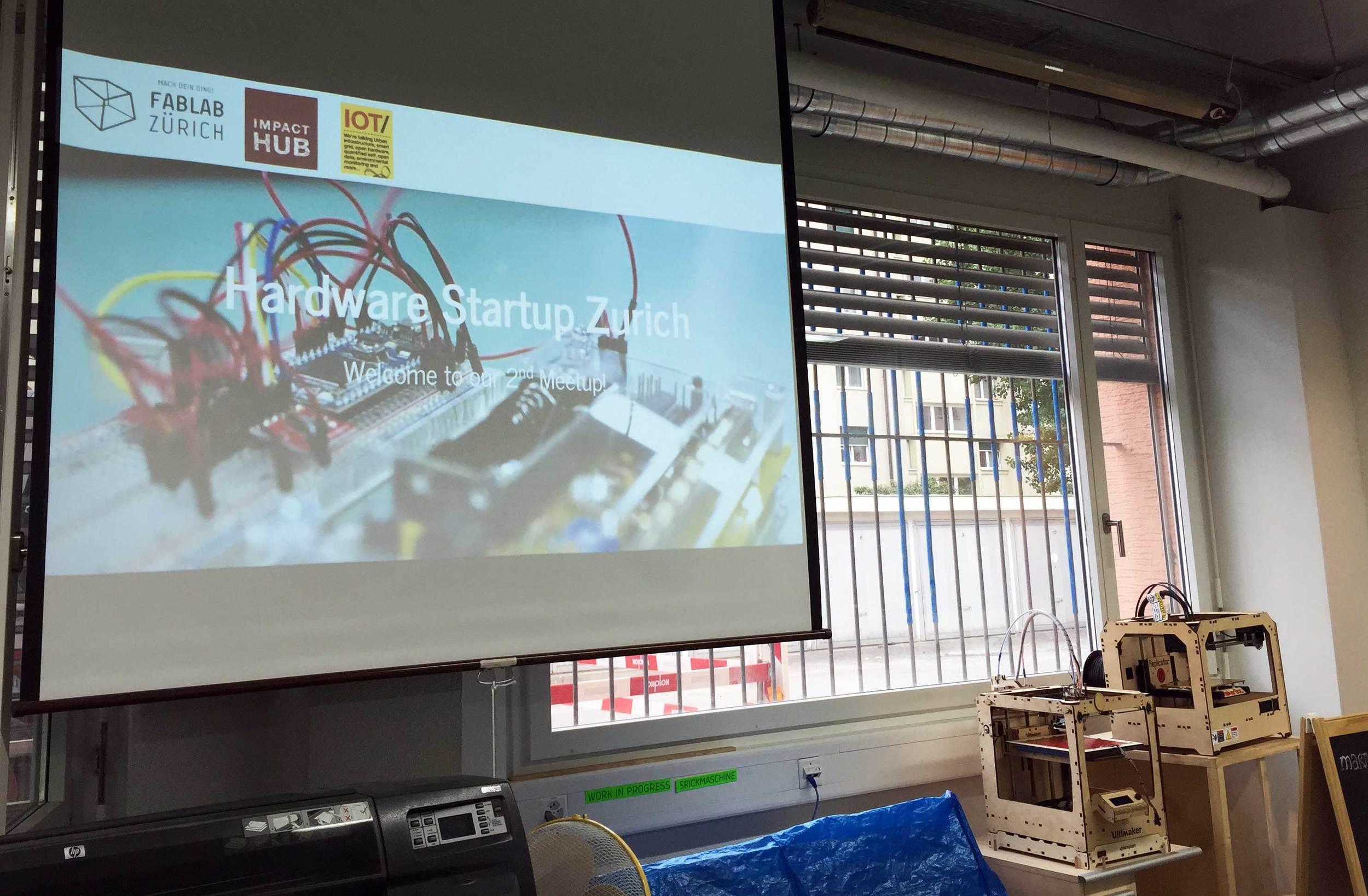 Hardware Startup Zürich Meetup at FabLab Zürich