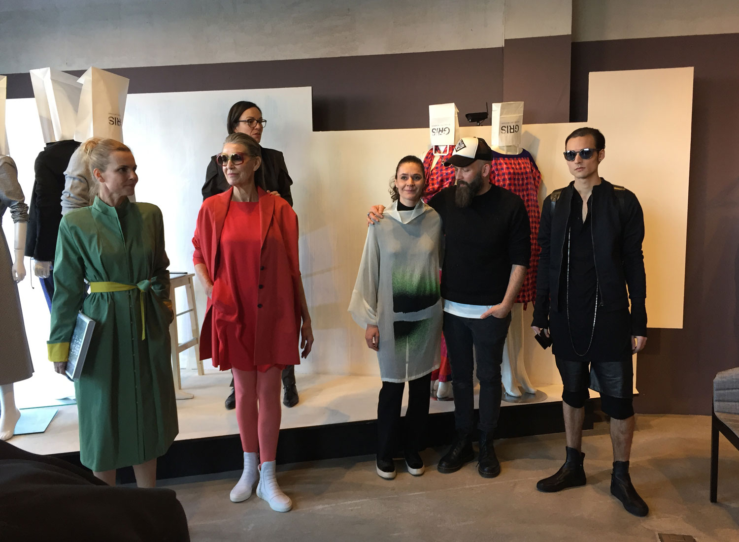 The grat team of the fashion show at GRIS