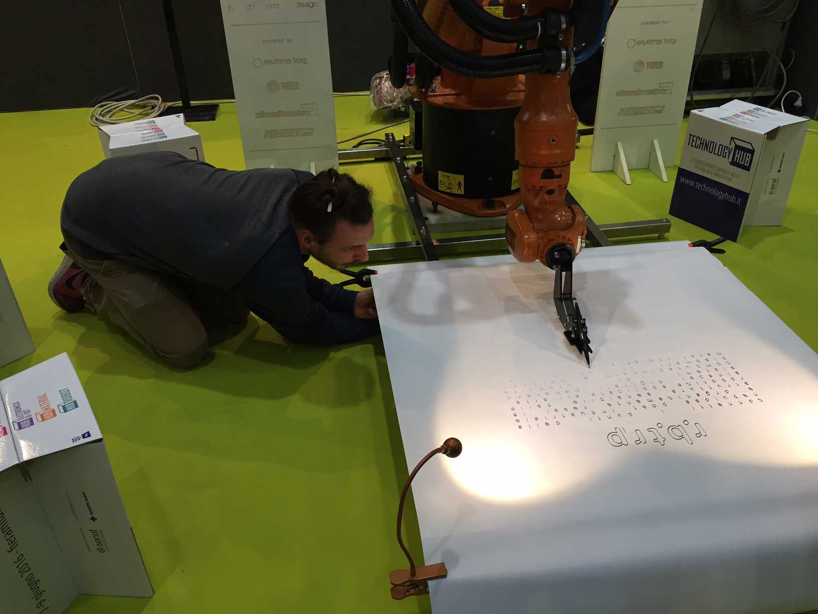 """Robotrip project at """"Technology Hub"""" fair in Milan"""