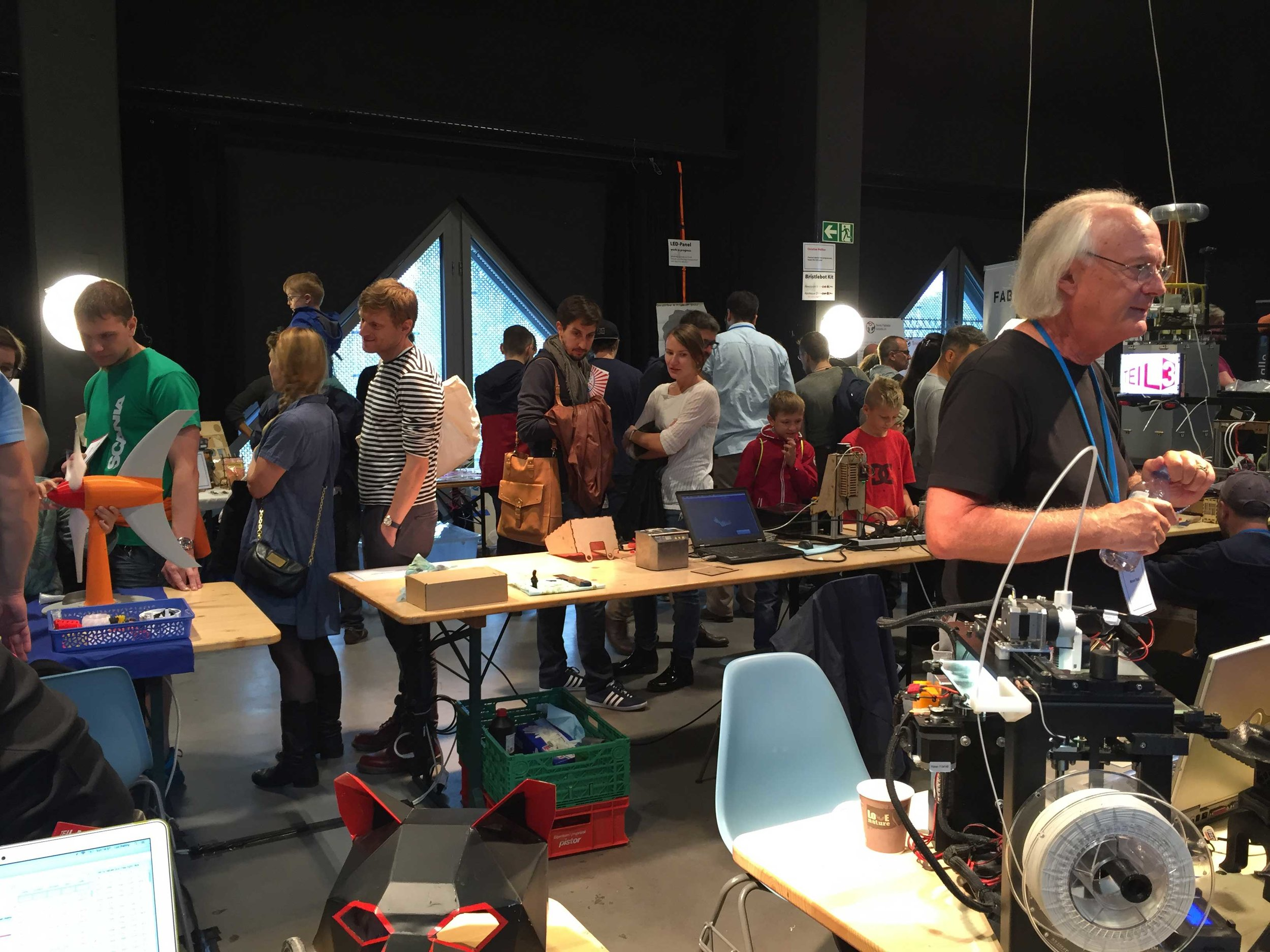 Makers and visitors