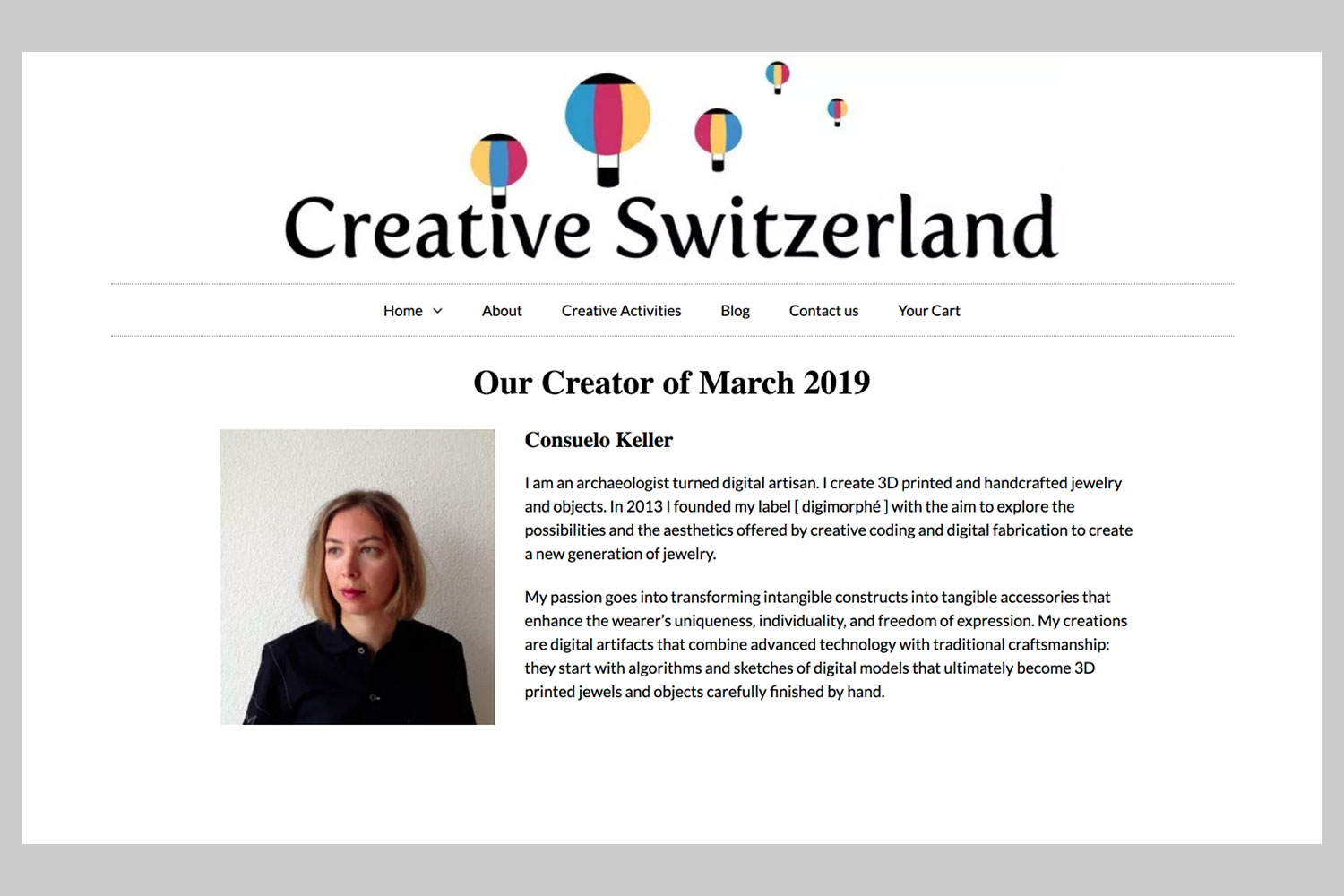 Creative Switzerland, 1-3-2019