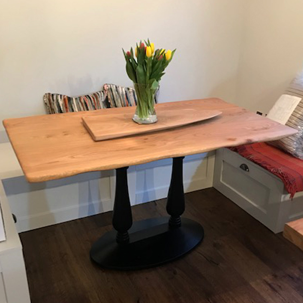 Irish Elm Table Top, Domestic Project