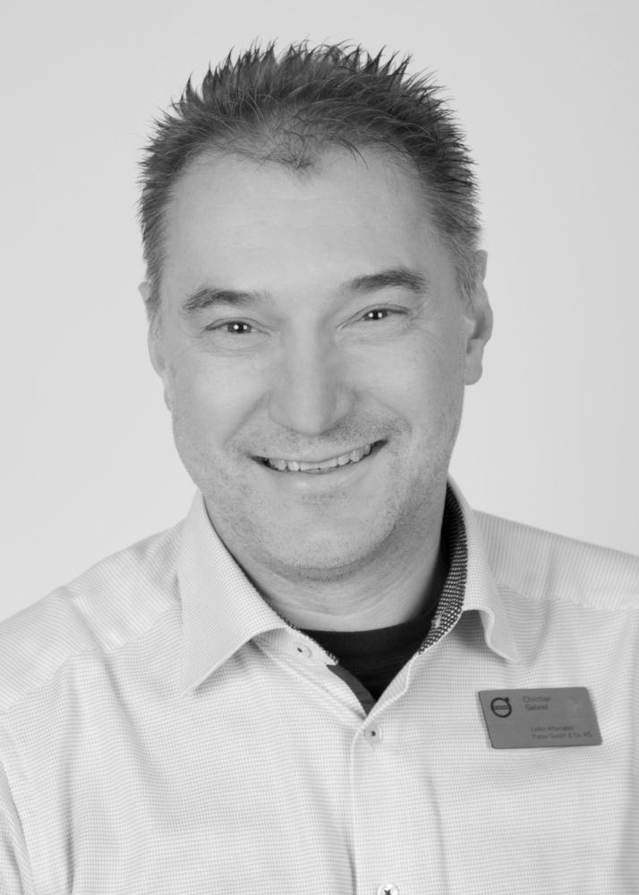Leiter Teile und Zubehör   Christian Gabriel  Tel.: (0931) 2 70 04-22 eMail:  c.gabriel@fabermobil.de