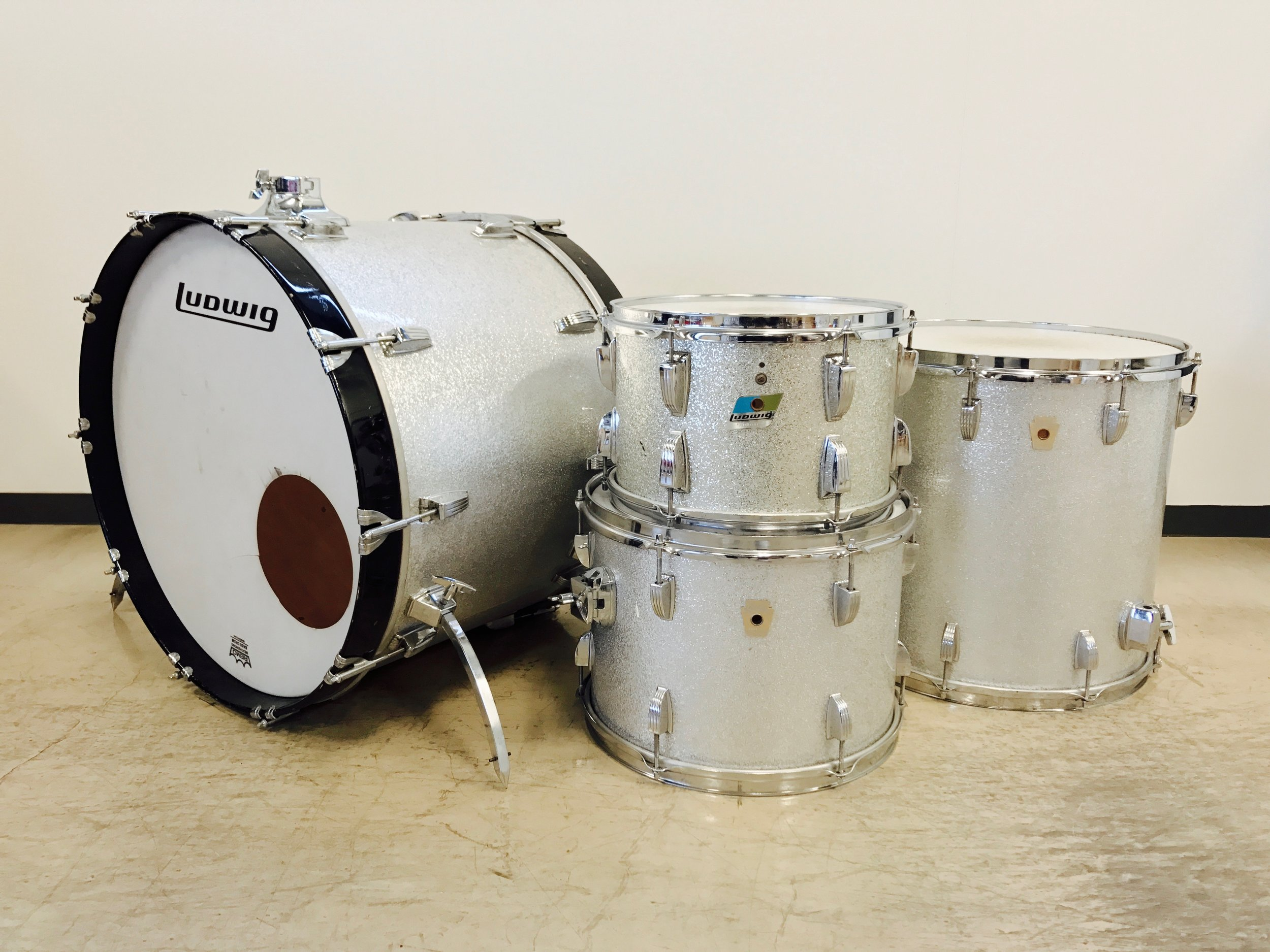 LUDWIG - 90's Classic maple Silver SparkleRack Tom 12