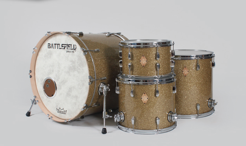 BattleField Drums  - Ginger Glass GlitterRack Tom 10