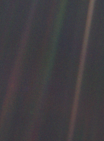 See that pale blue dot? This is our home, the Earth, condensed into less than one pixel. This revolutionary image that changed our way of seeing Earth and humanity just turned 25 years old this past February.