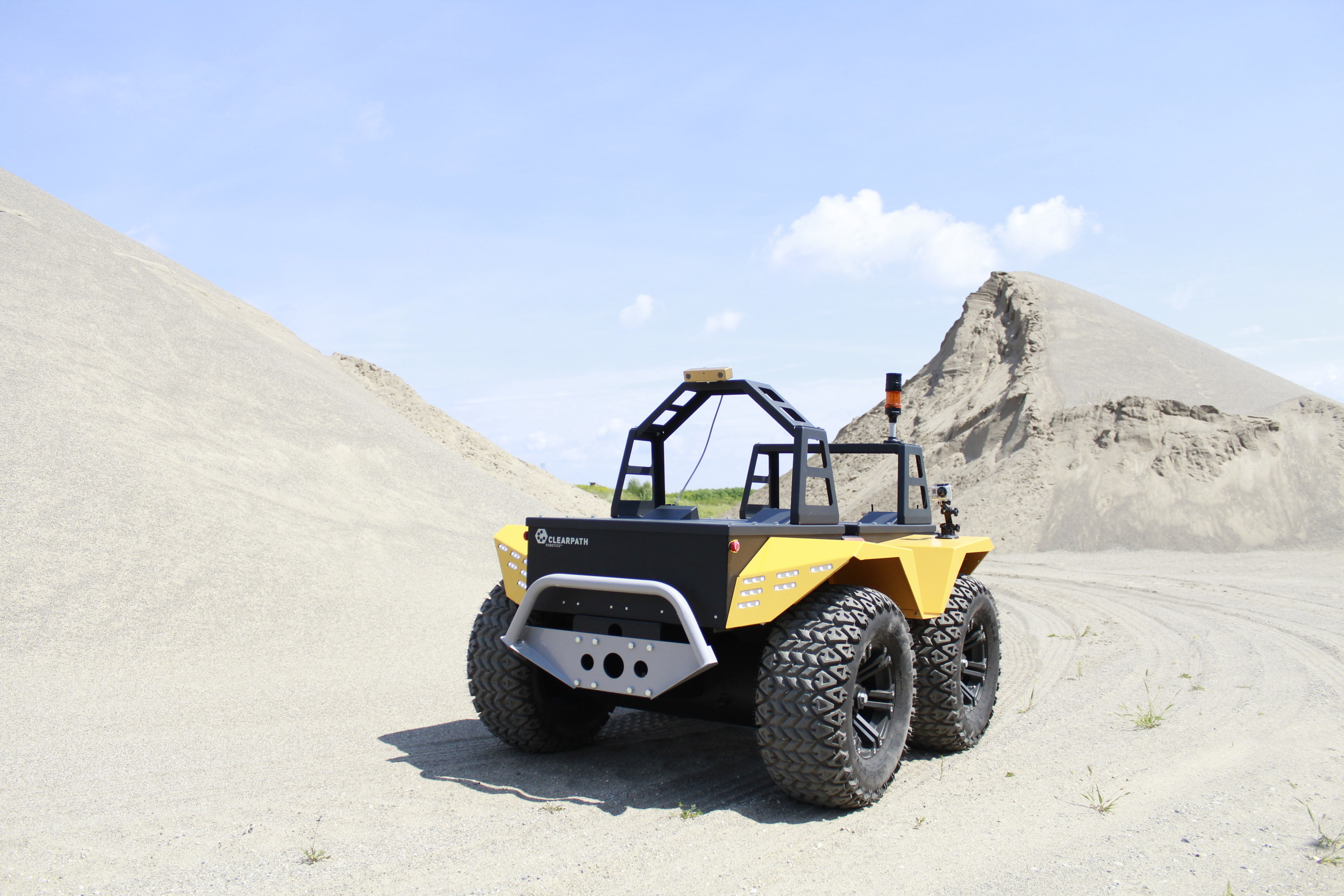 One of Clearpath's  unmanned ground vehicles - the Grizzly.