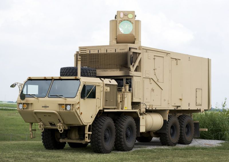 The U.S. Army has successfully tested the High Energy Laser Mobile Demonstrator (HEL MD), which is capable of shooting football-sized mortar rounds and unmanned drones out of the sky. (Boeing)