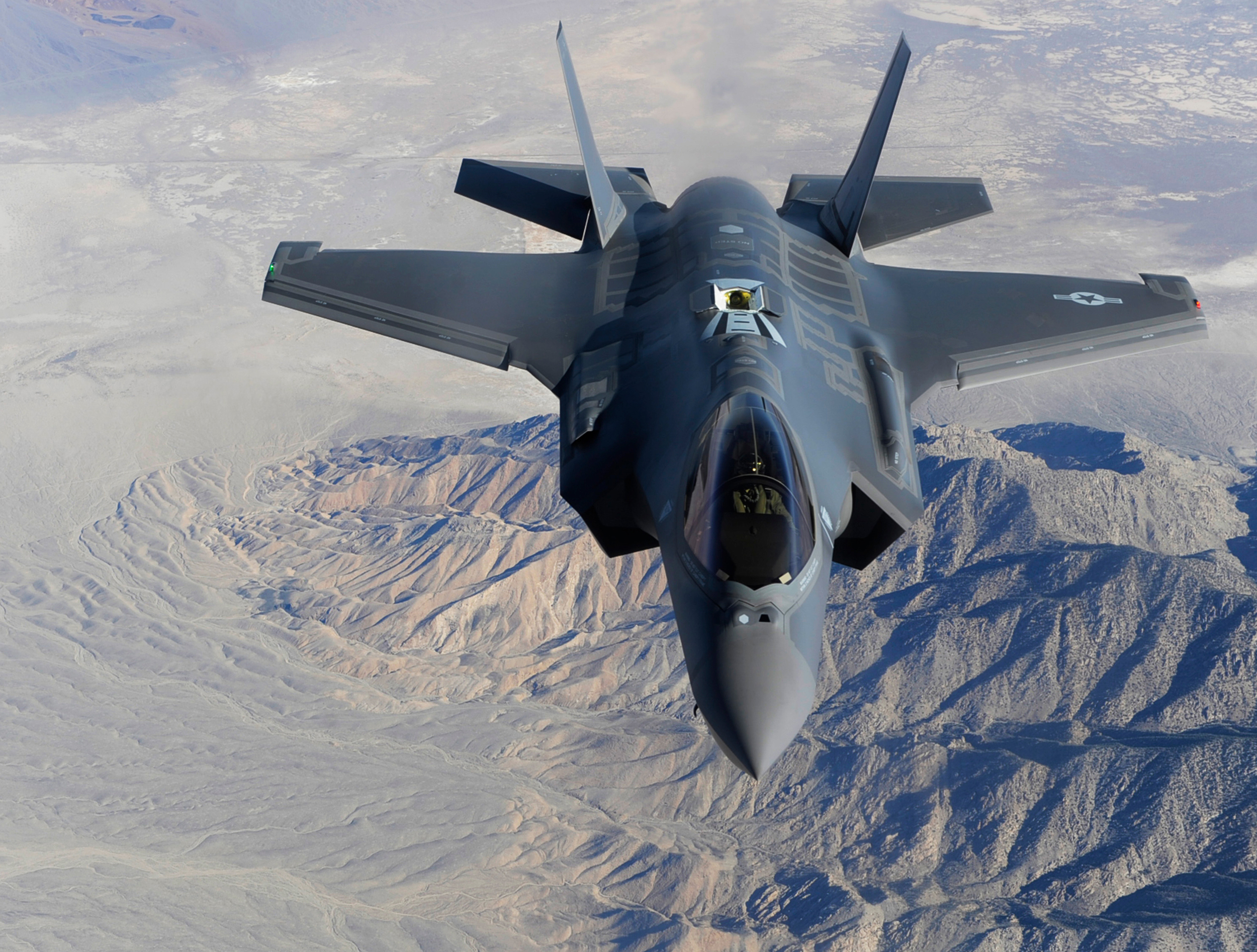 The face of modern warfare includes next generation fighter jets, such as Lockheed Martin's F-35 family of multirole, stealth aircraft. Available in A, B and C models, each with its own set of capabilities, the F-35 is designed to perform ground attacks, aerial reconnaissance and air defence missions. Pictured: the F-35C, a carrier-based Catapult Assisted Take-Off But Arrested Recovery (CAFTOBAR) model. (U.S. Air Force)