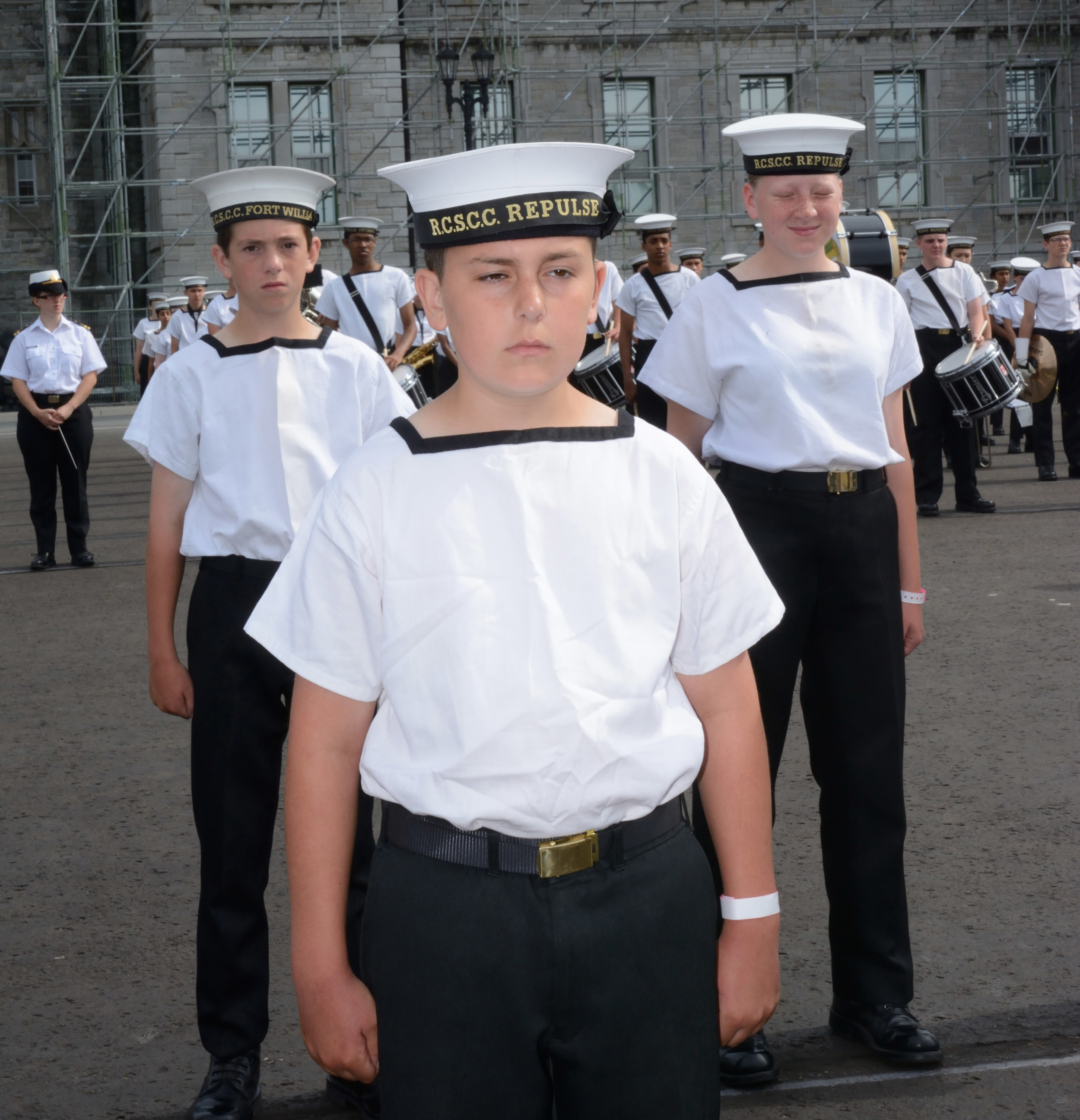 Ethan Adams capped off his two week long General Training course with a parade on the grounds of the Royal Military College. His training took in the scope of the sea cadet experience, including everything from sailing and seamanship, to ceremonial drill and marksmanship. (Sgt Kev Parle, DND)
