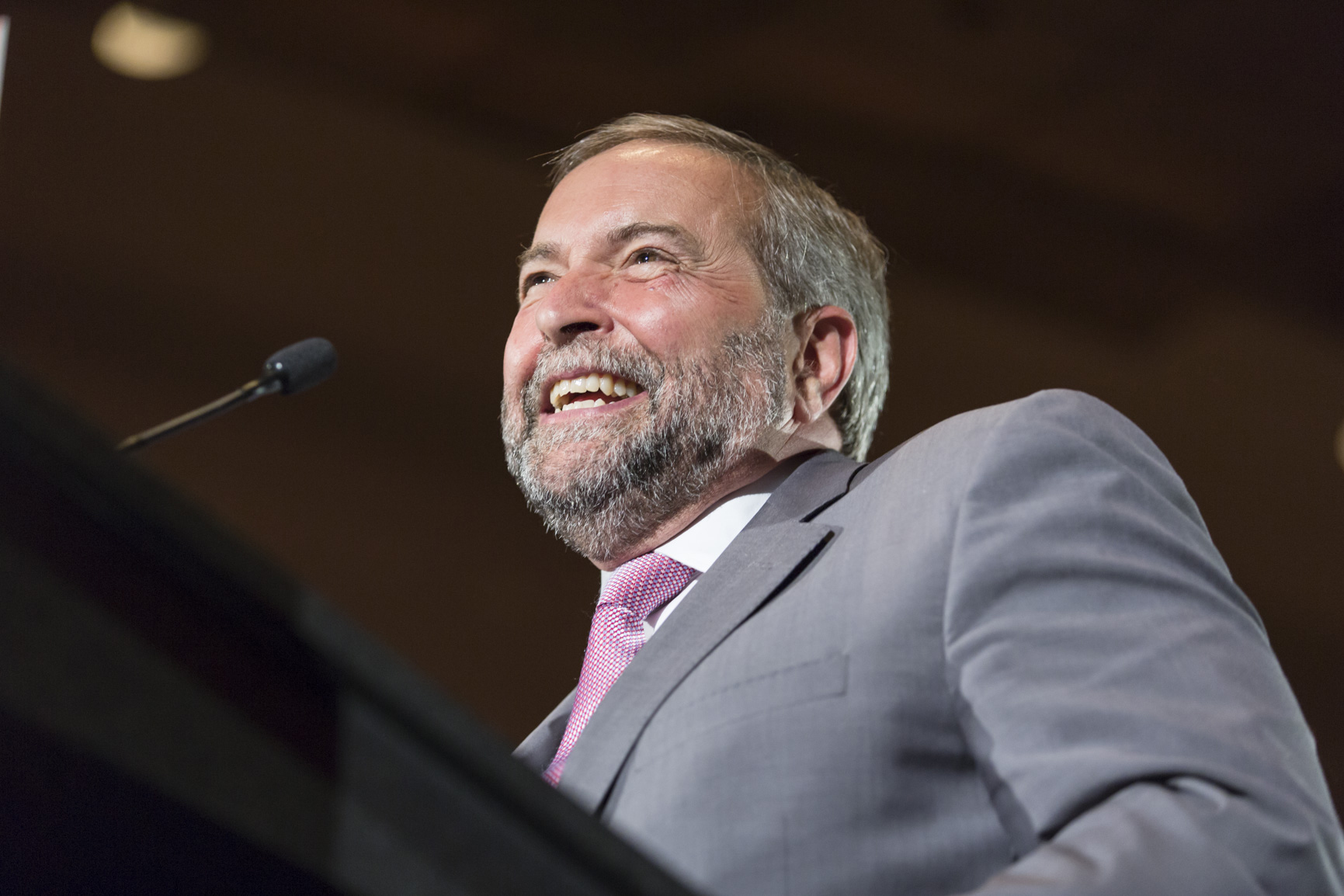 NDP Leader Tom Mulcair would end the military commitment to combat ISIS in Iraq if elected. (Flickr)