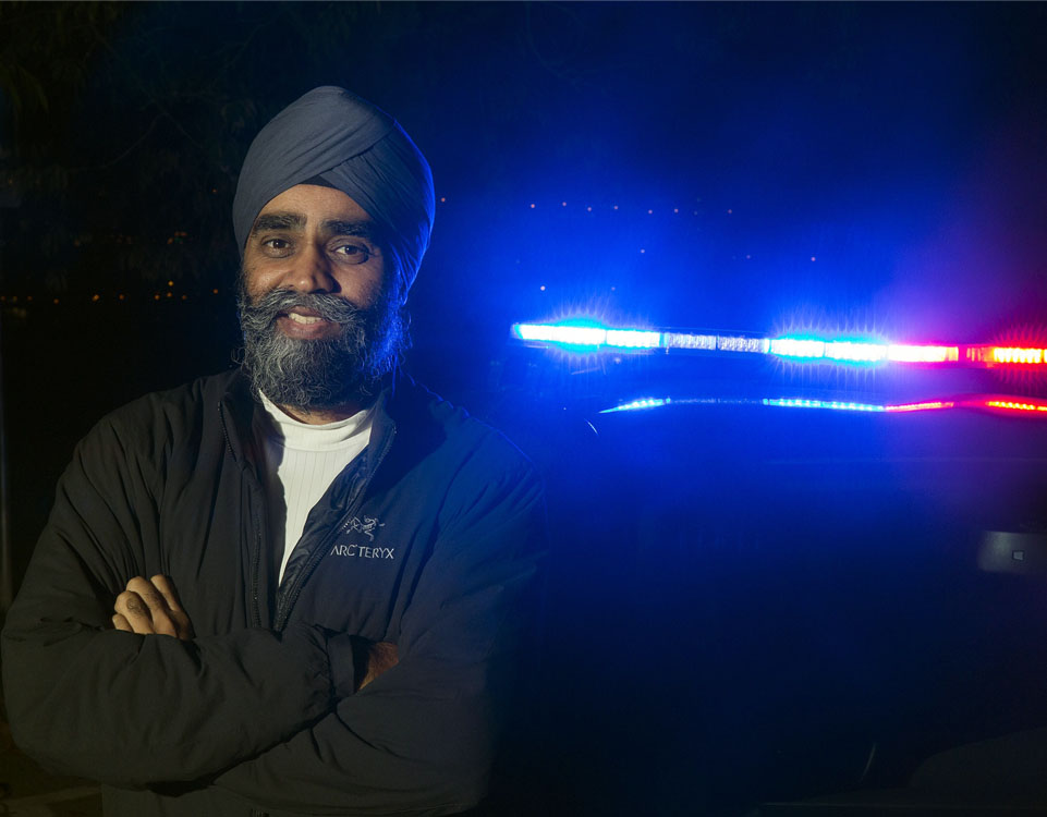 Harjit Singh Sajjan has been with the Vancouver Police Department for 11 years, working as a detective in the gangs unit. His work with the department, coupled with his military experience, will surely provide a unique perspective as Canada's Minister of Defence. (Photo: Liberal Party of Canada)