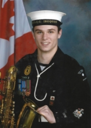 Former Cadet Chief Petty Officer First Class Jamie Robinson took part in the Remembrance Day ceremony in Ottawa this year. A recent graduate, he served in Halifax's Royal Canadian Sea Cadet Corps 339 IROQUOIS. (Royal Canadian Sea Cadets)