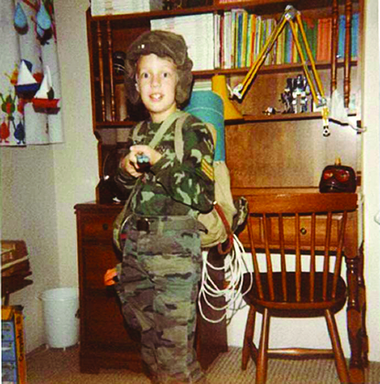 Andrew liked soldiering from an early age. In 1984, at the age of seven, he dressed-up as GI Joe for Halloween. he joined the Army Cadets before enrolling at RMC.