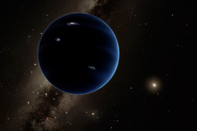 "The above is an artist's depiction of the view from ""Planet Nine"". Caltech/R. Hurt (IPAC)"