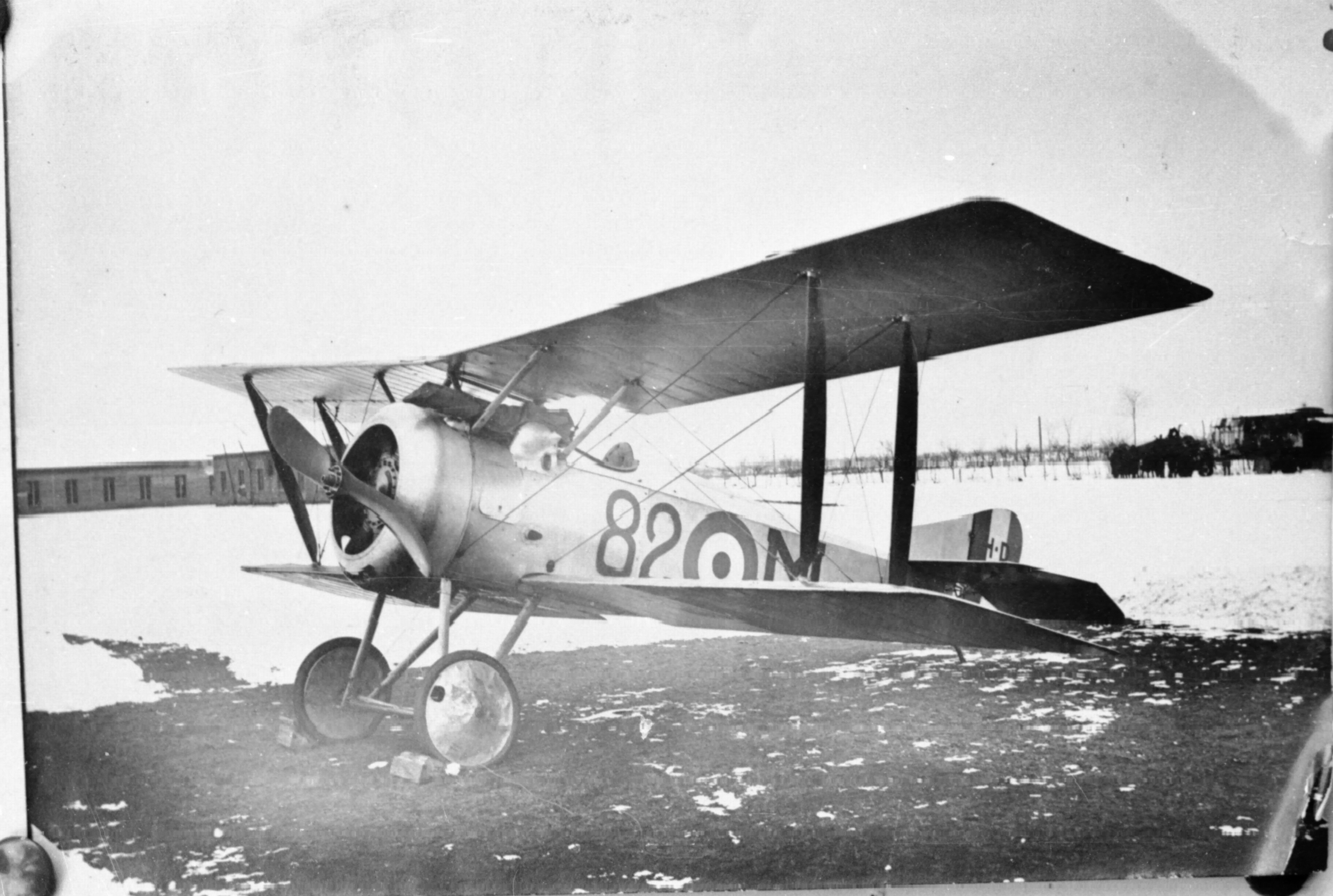 Often mistaken for a Camel, this Hanriot HD.1 of the 82a Squadriglia carries the resemblance further by using letters for individual identification, much like the Royal Flying Corps. (ROBERTO GENTILLI)