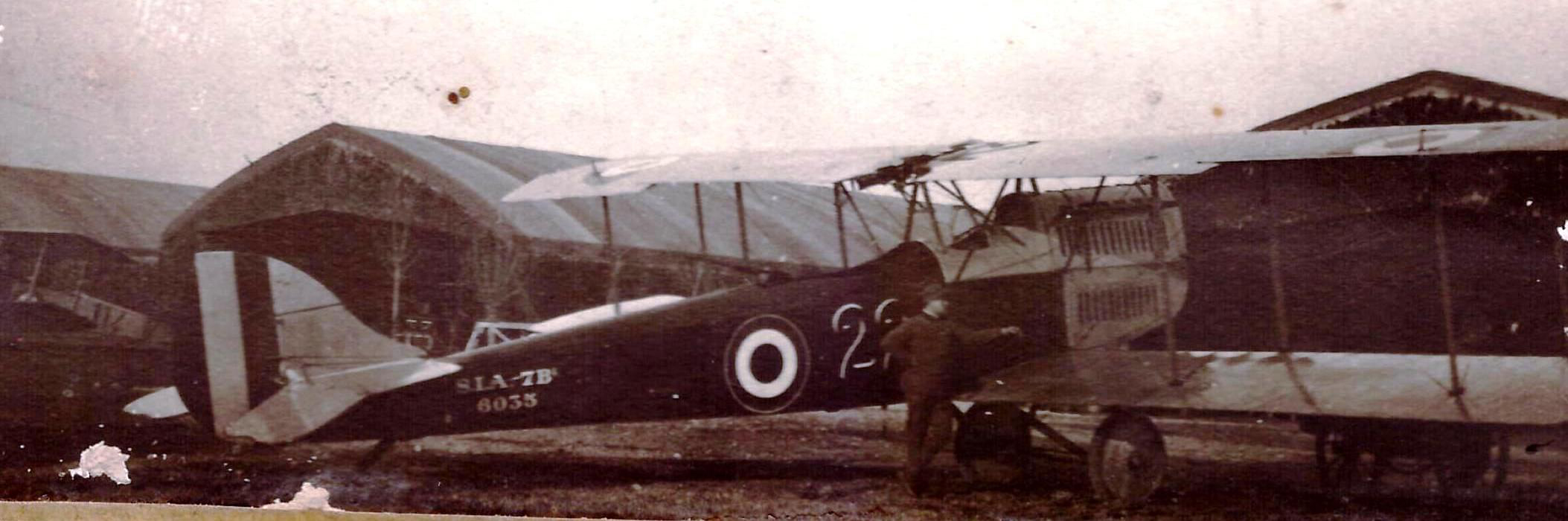 A little-known postscript to the Istrana raid is that an SIA 7B, newly delivered to the 22a Squadriglia, was piloted by Sergente Alfio Lepore with Soldato Ercole Biemmi, a worker and rigger for the SIA company attached to the unit who was in the observer's pit, gave belated, vain chase to the retiring Germans. (ROBERTO GENTILLI)