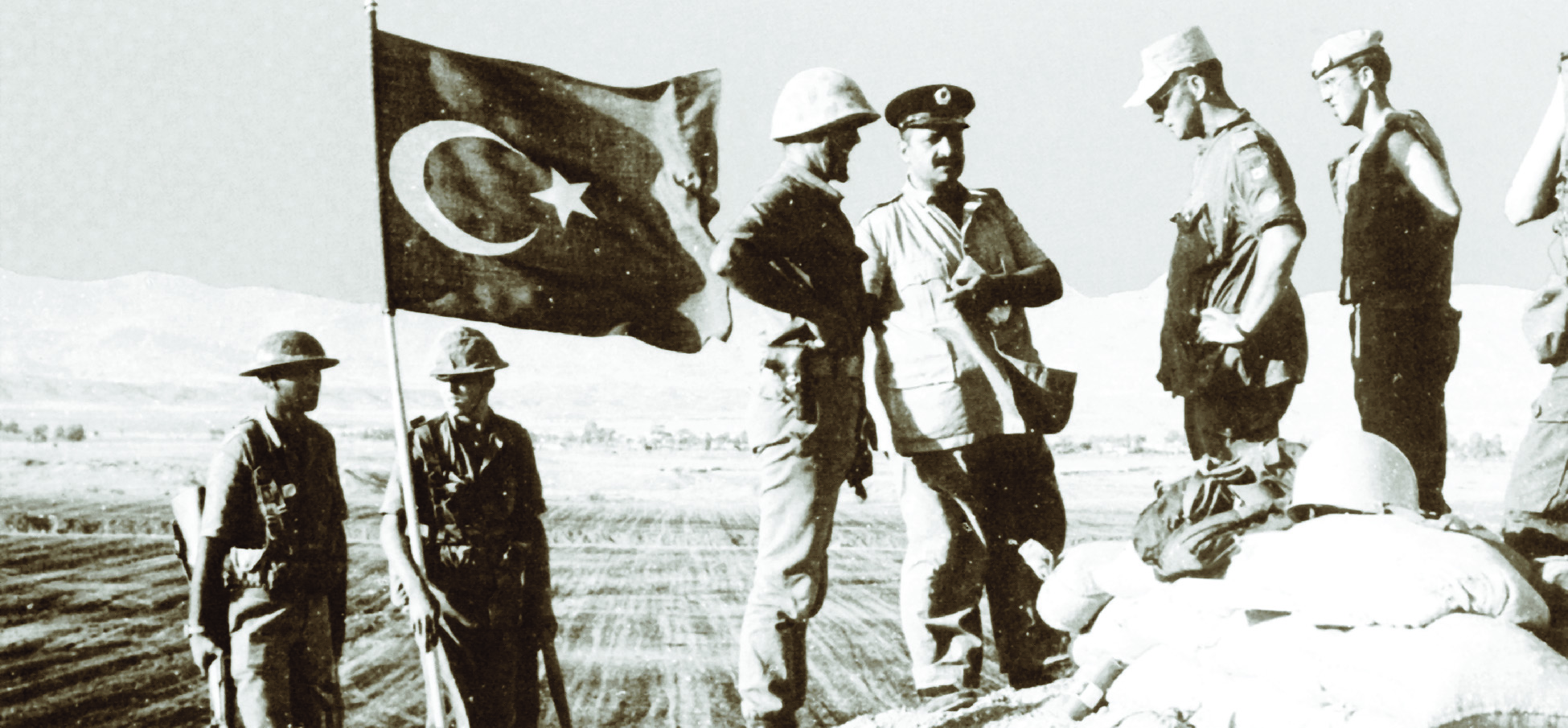 On July 15, 1974, the Greek Cypriot National Guard staged a coup and overthrew president Archbishop Makarios III. Five days later, on July 20, the Turkish army invaded Cyprus in response to the overthrow, officially claiming they wished to protect the Turkish minority on the island. Three days after the Turkish invasion, a ceasefire was reached between the belligerents, but it dissolved following repeated attacks. A permanent ceasefire and a division of the island was finally reached on August 16, 1974. The United Nations have supported the ceasefire contingent of peacekeepers ever since. (DND)