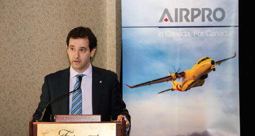 Pablo Molina, head of Airbus Defence and Space Military Aircraft in Canada, was in Ottawa on January 11, 2016 after his company submitted its bid on the FWSAR project. The firm is teaming with Provincial Aerospace, forming AirPro SAR Services as a joint venture. Upon contract award, will be the Canadian in-service support integrator of the FWSAR C295 fleet for the life of its service. (RICHARD LAWRENCE)