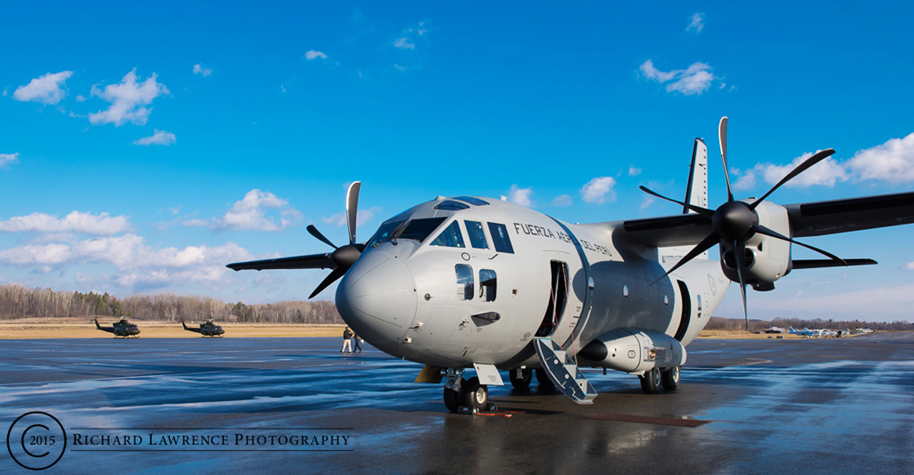 A C-27J sits on the tarmac of the Gatineau Airport, just a short 20-minute drive from downtown Ottawa. A contender in the restarted fixed-wing search and rescue (FWSAR) procurement project, the Team Spartan aircraft made a pit-stop in the nation`s capital on December 11, 2015 to showcase the plane`s capabilities to interested parties. (Richard Lawrence)