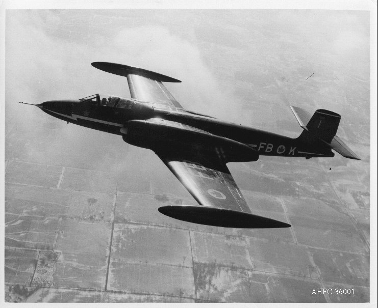 The prototype A.V. Roe Canadaa CF-100 serial No. 18101 made its maiden test flight from Malton, near Toronto, on January 19, 1950. (Association of Medical Faculties Of Canada)