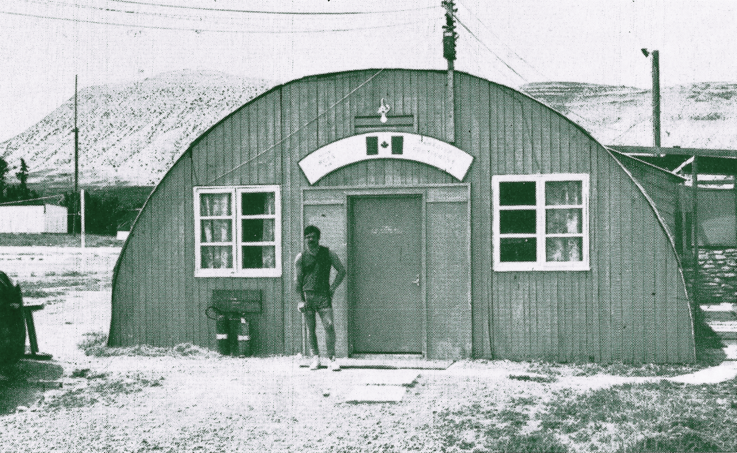Frank Reid's recollections of life as a peacekeeping in Cyprus shortly after the civil war erupted on the Mediterranean island in 1974. Pictured, the humble digs in Louroujina where the Canadians slept and played table tennis. Private Rick Edmonds stands in front of the door. This is a far cry from Nicosia's Ledra Palace, where Frank Reid was first stationed. (Rcr Photographer)