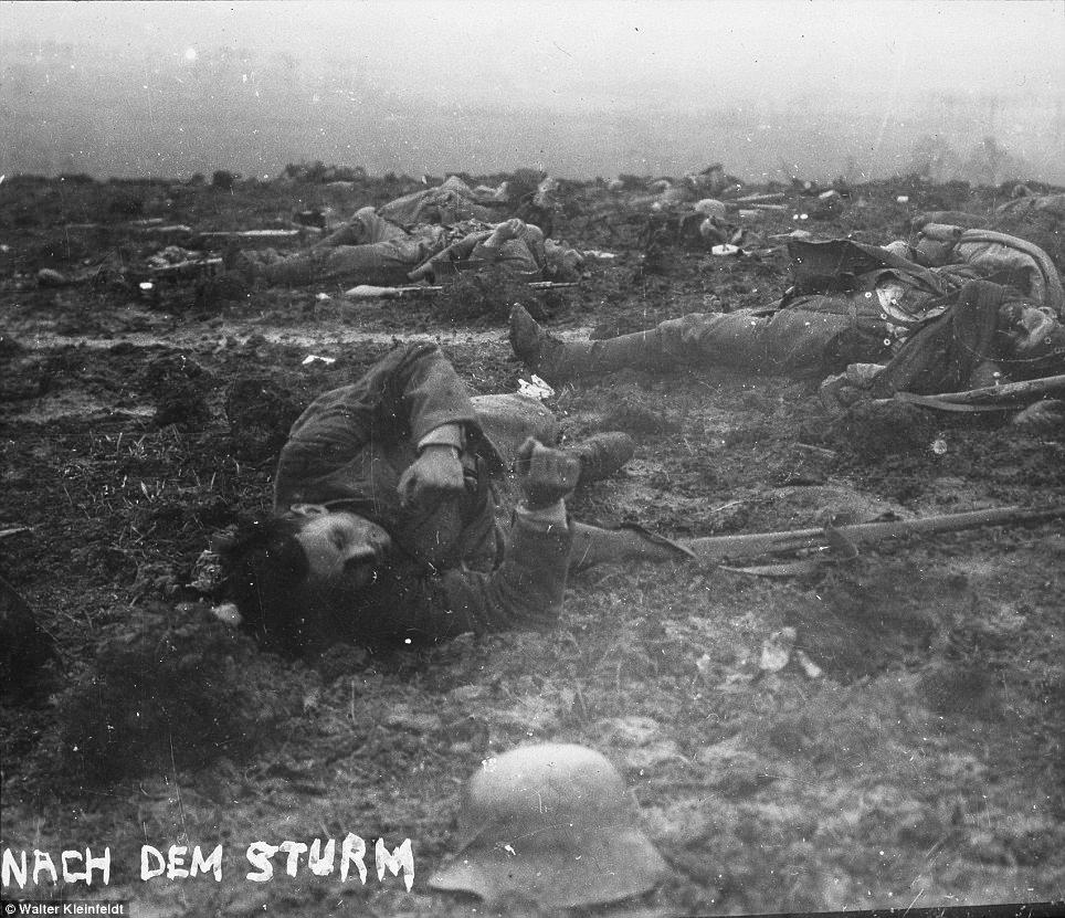 German dead after battle