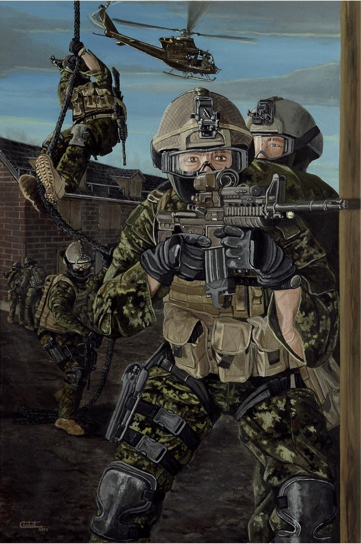 Ghost Warriors, completed by Sergeant Roger Chabot in July 2008. Photo taken by Sergeant (Retired)) Roger Chabot, Royal 22e Régiment. ©2008 DND/MDN Canada.