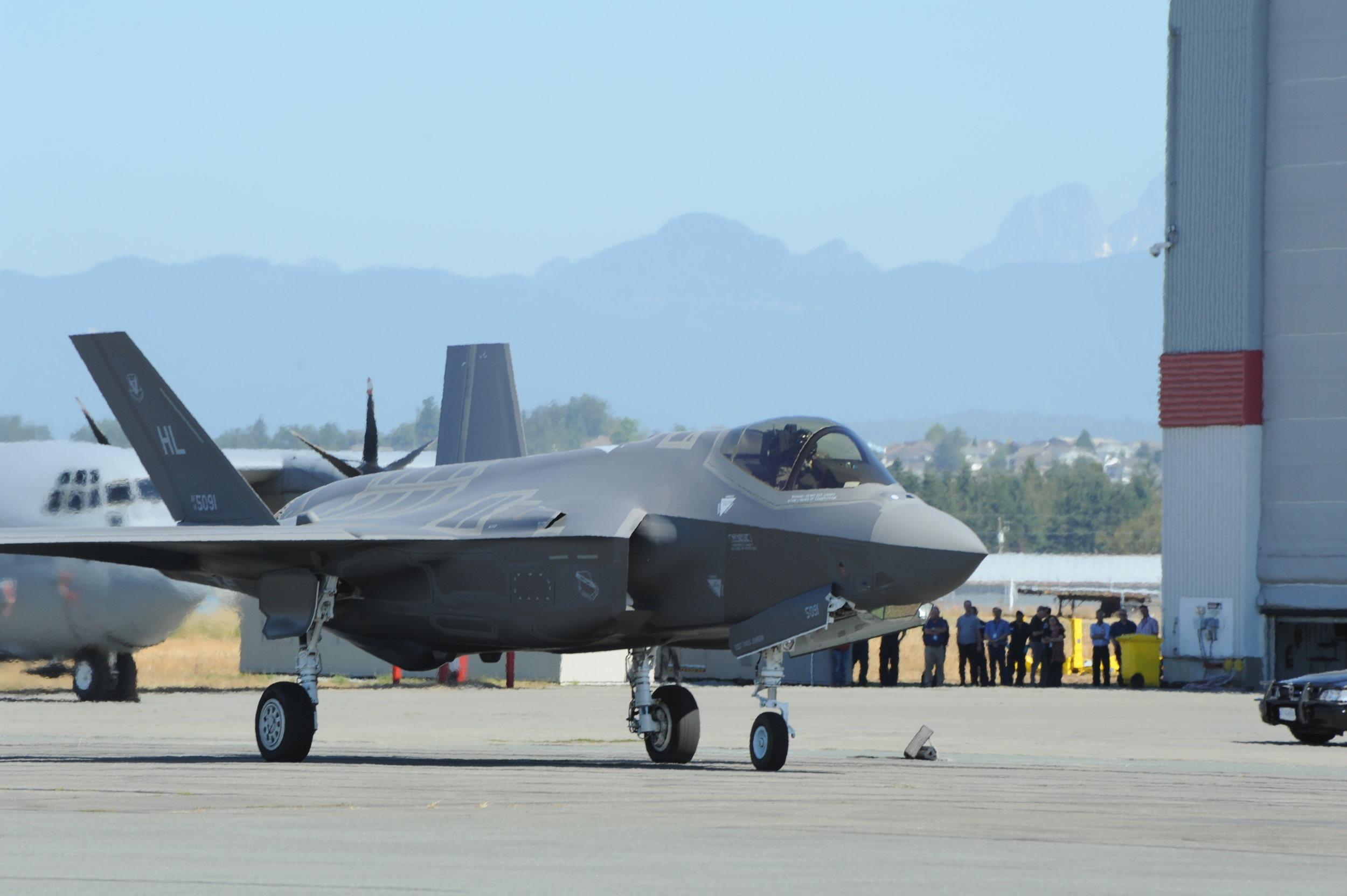 An F-35A starts to taxi to the runway as it begins its homeward journey to Hill Air Force Base in Utah. On August 2 the USAF declared their F-35A Lightning II fighter fleet combat ready.