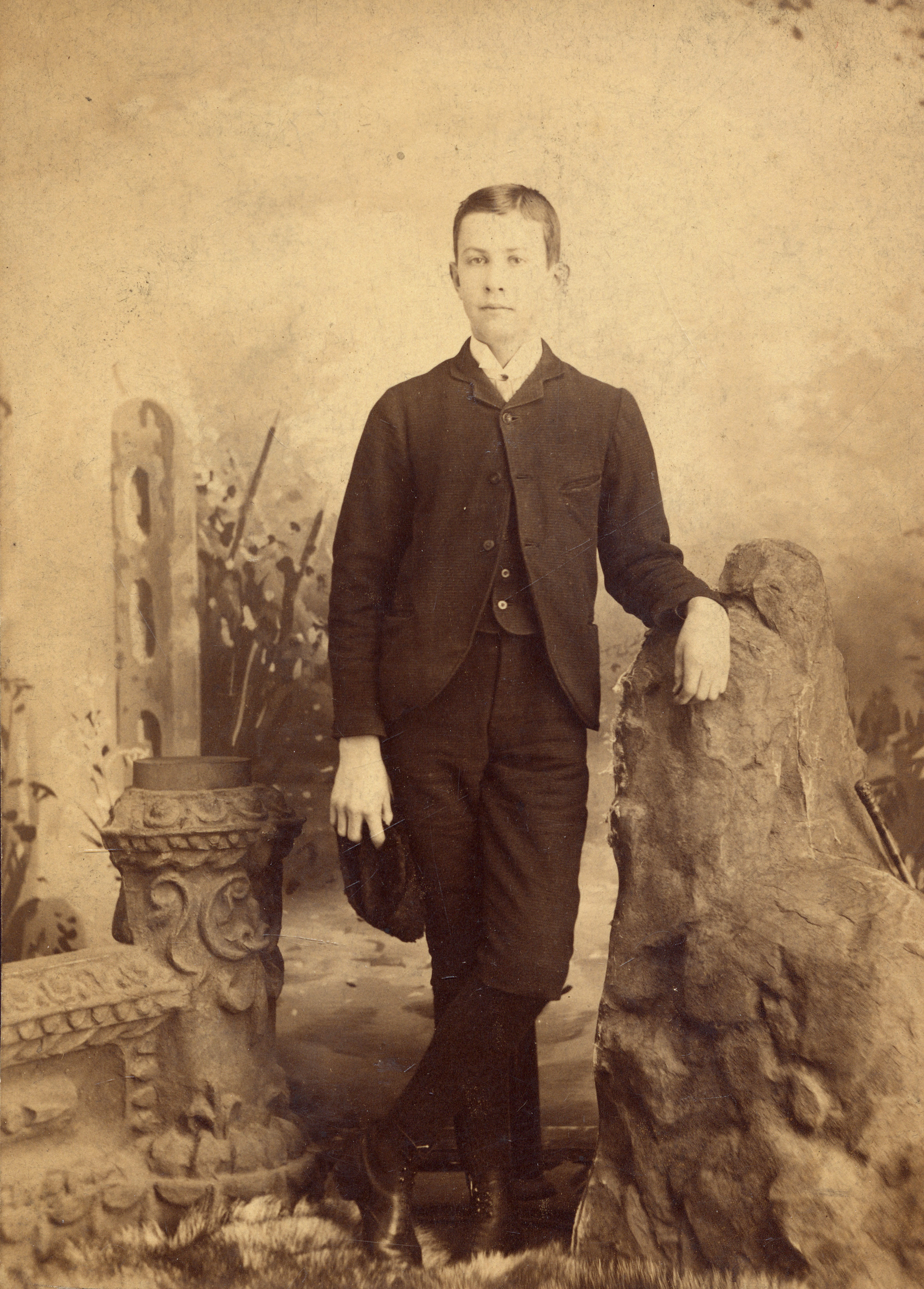 Young Art Curry, aged approximately 12, at the time of his admission to Strategy Collegiate Institute. (museum strathroy-caradoc)