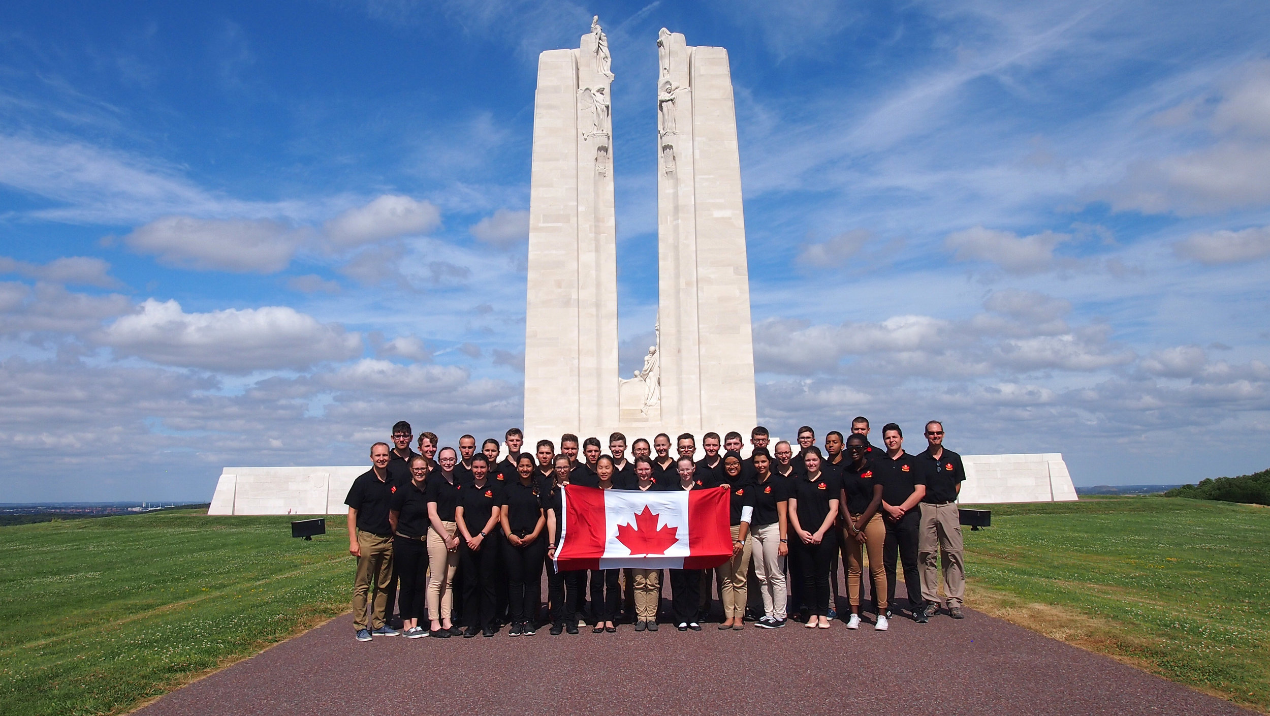 Visiting battlefields, cemeteries and memorials in The Netherlands, Belgium and France, the cadets learned of the sacrifices and hardships Canadian soldiers endured in both World Wars.