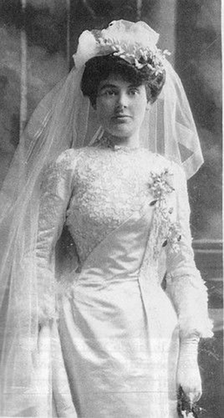 """The wedding of Lillian Warner (left) and Arthur Currie on August 14, 1901 was a highlight of Victoria's high society that summer. Born Lucy Sophia Musters in Comox, British Columbia in 1875, her name was changed to Lillian by her adoptive parents, Orlando and Jane Warner, after Lucy was abandoned by her father following her mother's death from childbed fever. According to family history, it was love at first sight when Arthur Currie met """"Lil"""" when visiting his aunt, Jane Warner, in Victoria. Lady Lucy Currie survived her husband by 36 years and passed away in 1969 at age 93. (barbara chaworth-musters, strathroy age dispatch)"""